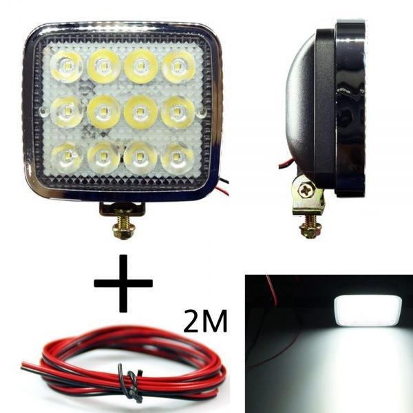 LED 안개등 201 화이트 다용도 램프 작업등 12V-24V겸용 선2m포함 led작업등 led라이트 낚시집어등 차량용써치라이트 해루질써치