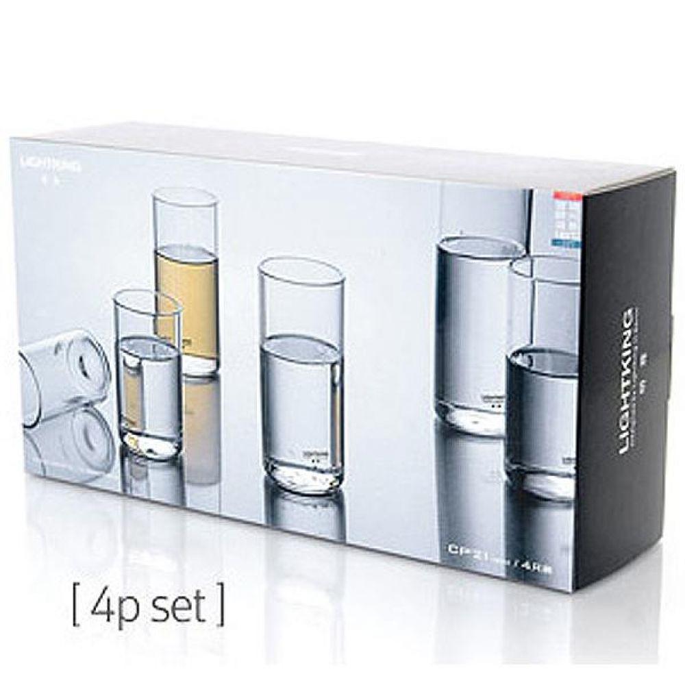 라이트킹 CP22 4p세트 명존 글라스 찻잔내열유리 차 커피 컵 잔 유리잔