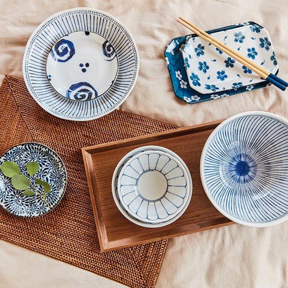도트 토쿠사 공기 5P 밥그릇 주방용품 그릇 예쁜그릇 주방용품 밥그릇 그릇 예쁜그릇 공기