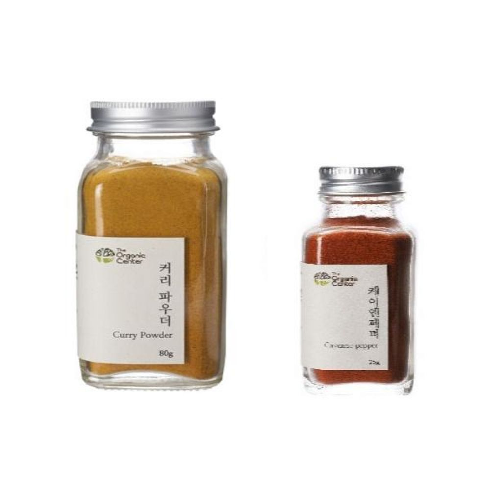 (오가닉 향신료 모음)커리 파우더 믹스 80g과 케이엔페퍼 25g 건강 견과 조미료 카레 냄새
