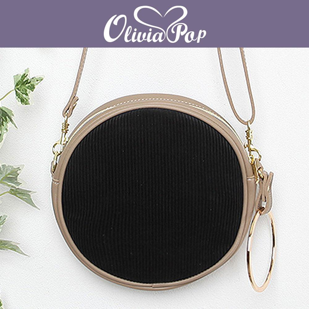 블랙 올리비아팝 원형 미니 크로스백 라운드백 가방 핸드백 예쁜핸드백 이쁜핸드백 손가방 이쁜가방