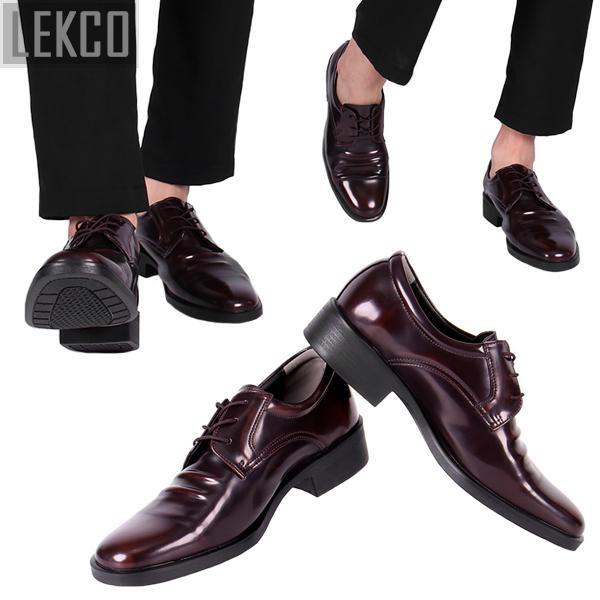 [LEKCO] 남성정장 구두 더비끈 굽 4cm 키높이 LK-180011 브라운 정장구두 신사화 수제화 수제구두 남자신발