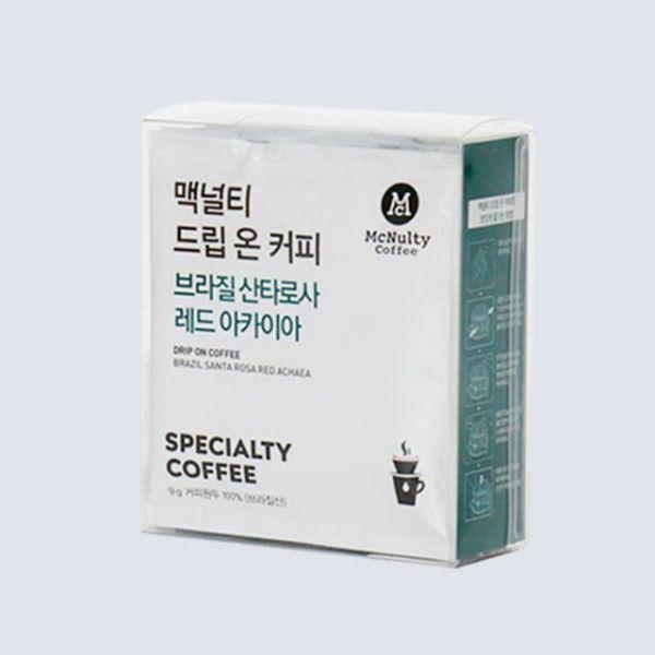 핸드드립온 브라질 산타로사 레드아카이아 원두 커피  5개입