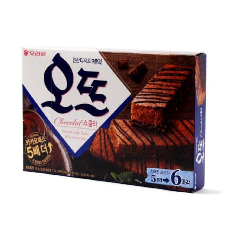 오리온)오뜨 쇼콜라 150g x 6개 과자 스낵 군것질 박스단위 도매