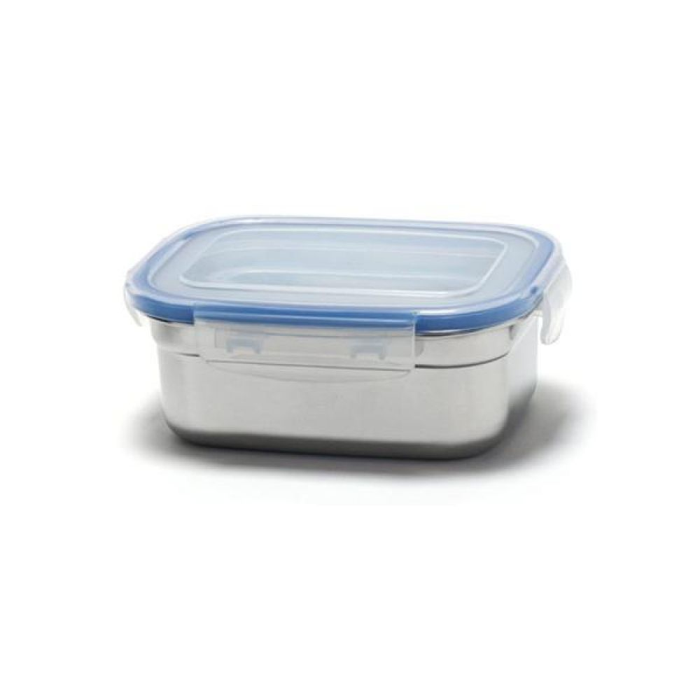 키친아트 피앙세 스텐 사각 반찬통 2호(500ml) 주방도매 반찬통 김치통 밀폐용기 주방용품