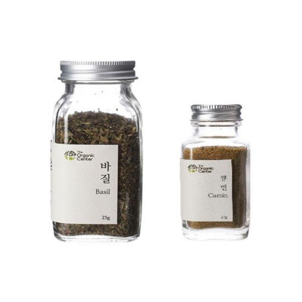 (오가닉 향신료 모음)건바질 25g과 큐민 파우더 23g 건강 견과 조미료 냄새 고기