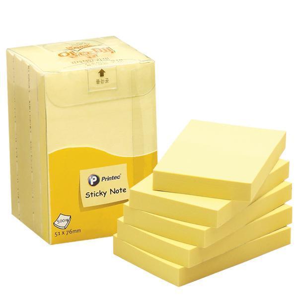 프린텍 A5176Y 스티키노트 노랑 500매 스티키노트 포스트잇 메모지 점착메모지 접착메모지 프린텍 애니라벨 팝업플래그
