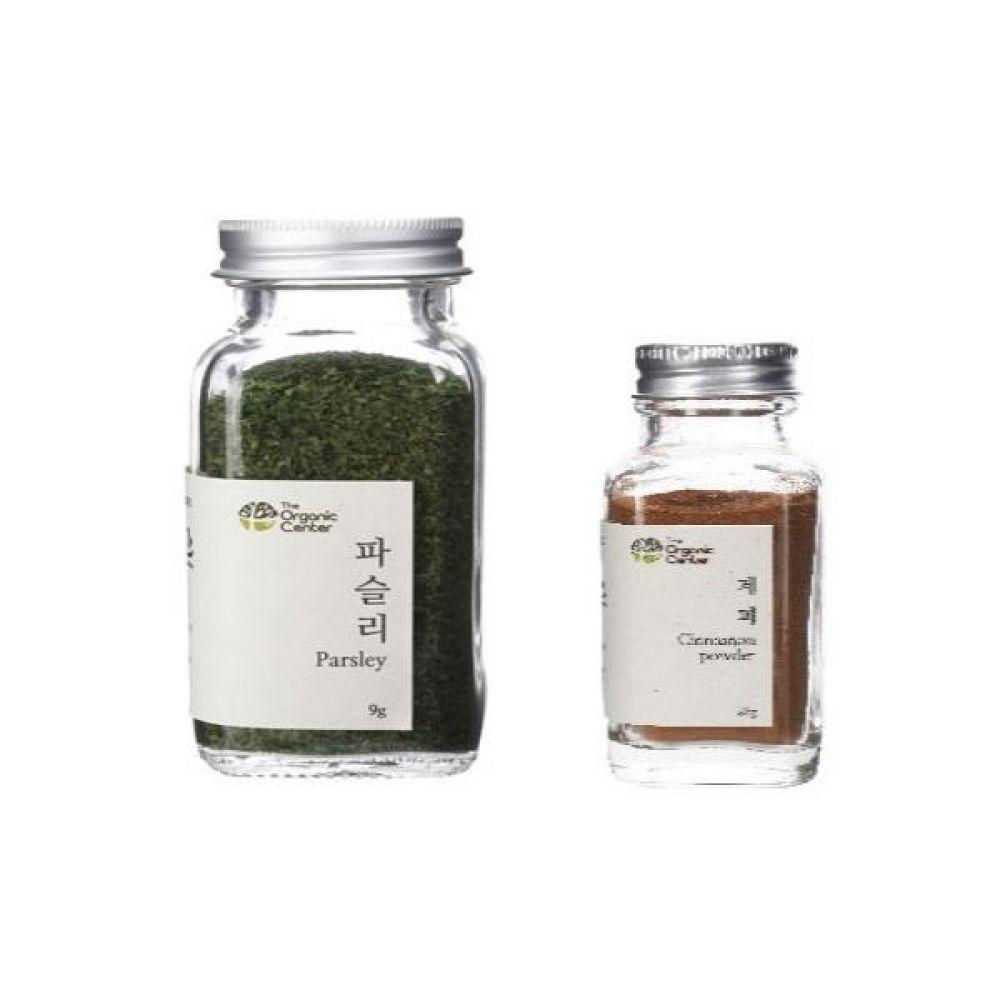 (오가닉 향신료 모음)건파슬리 30g과 계피파우더 25g 건강 견과 조미료 냄새 야채