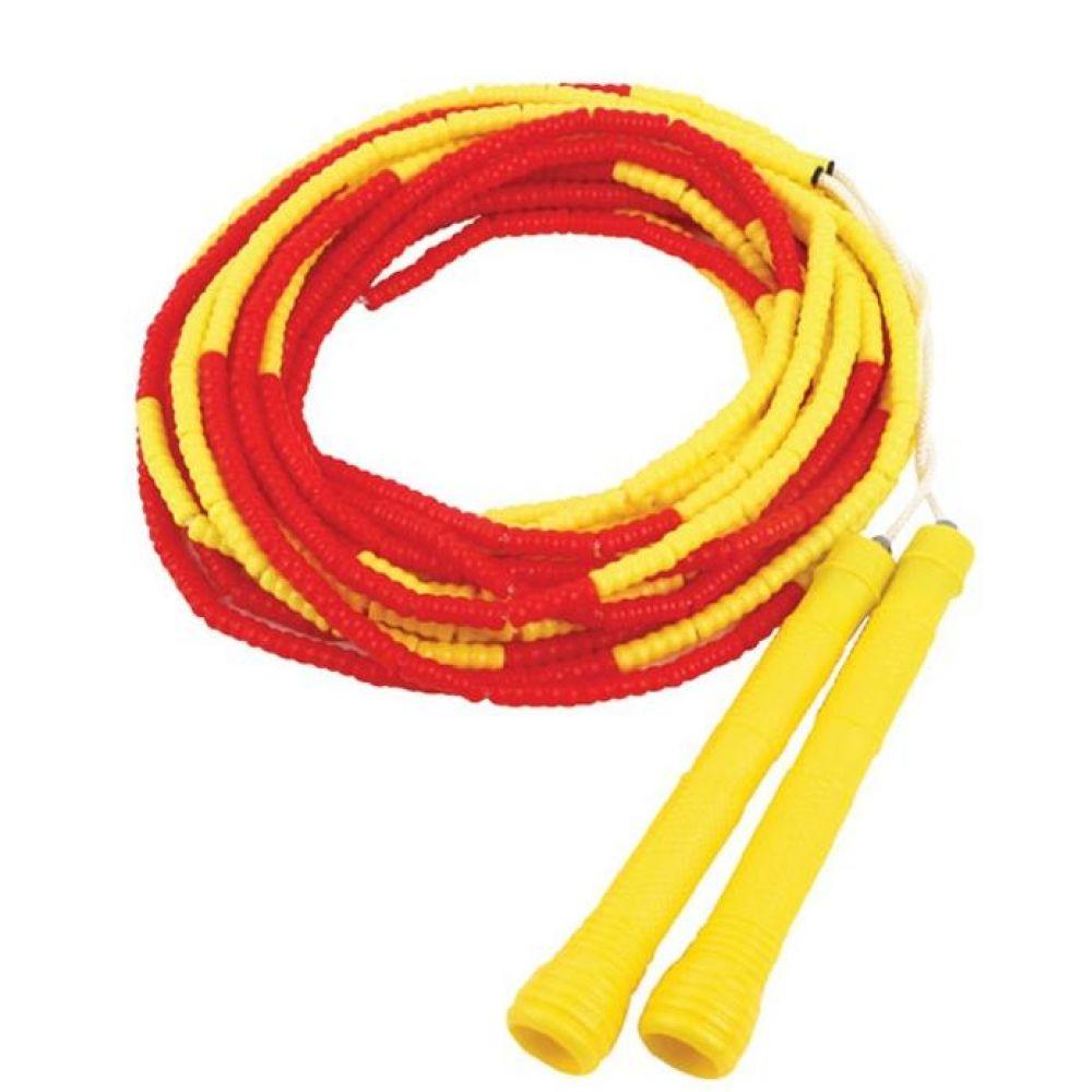 안전구슬 단체줄넘기 10m 옐로우레드 긴줄넘기 헬스용품 트레이닝용품 홈트레이닝용품 체력단련용품 줄넘기 기초체력운동용품 단체줄넘기