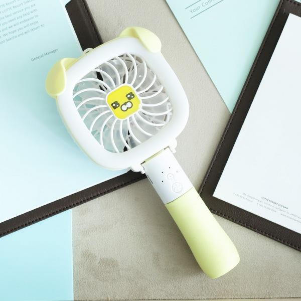 LED 사각 핸디형 저소음 선풍기 (옐로)