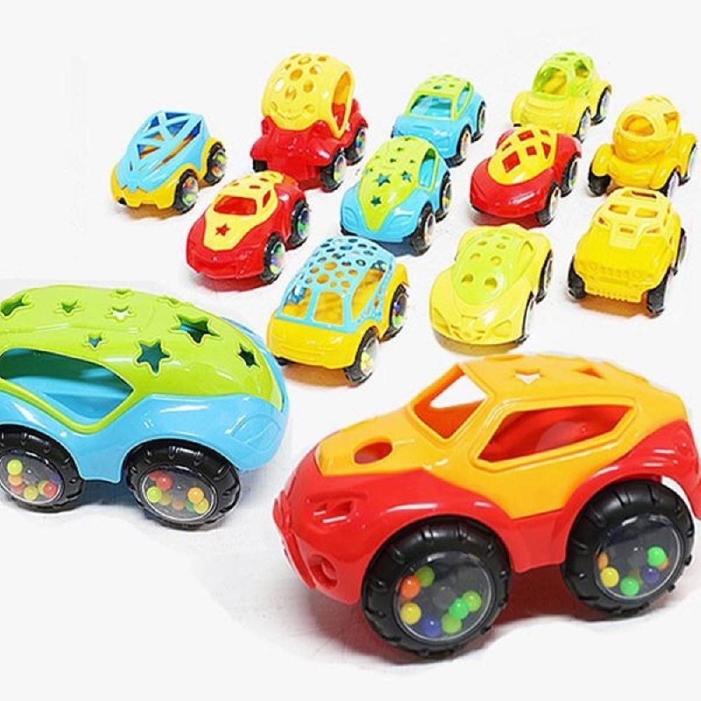 생일 어린이집 놀이 교구 칼라 소프트 래틀카 12종 완구 어린이집 유아원 초등학교 장난감
