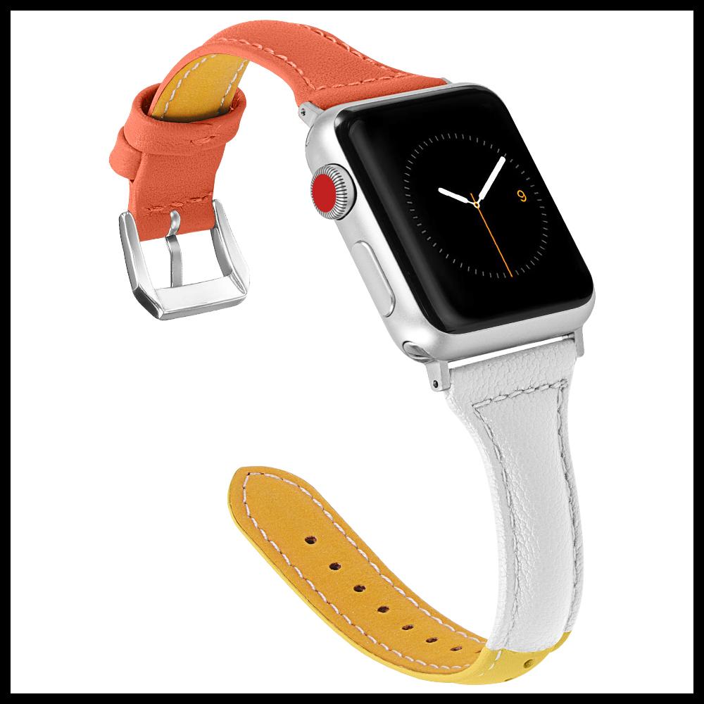 애플워치5 4세대 호환 쓰리톤 가죽밴드스트랩 40 44mm 시계줄 애플워치시계줄 아이워치 애플워치 애플워치밴드.스트랩
