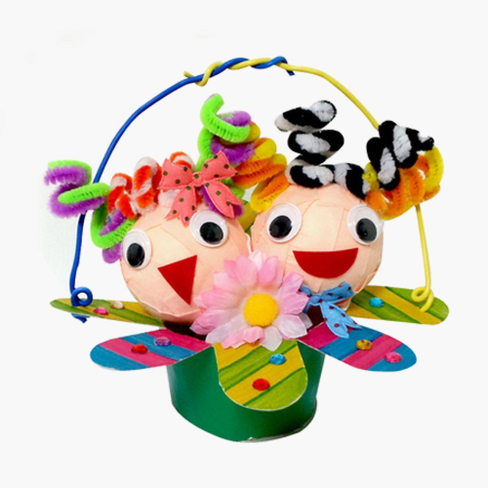 인형꽃바구니만들기 인형 친구 선물 가족 꽃바구니 바구니 만들기 만들기대장