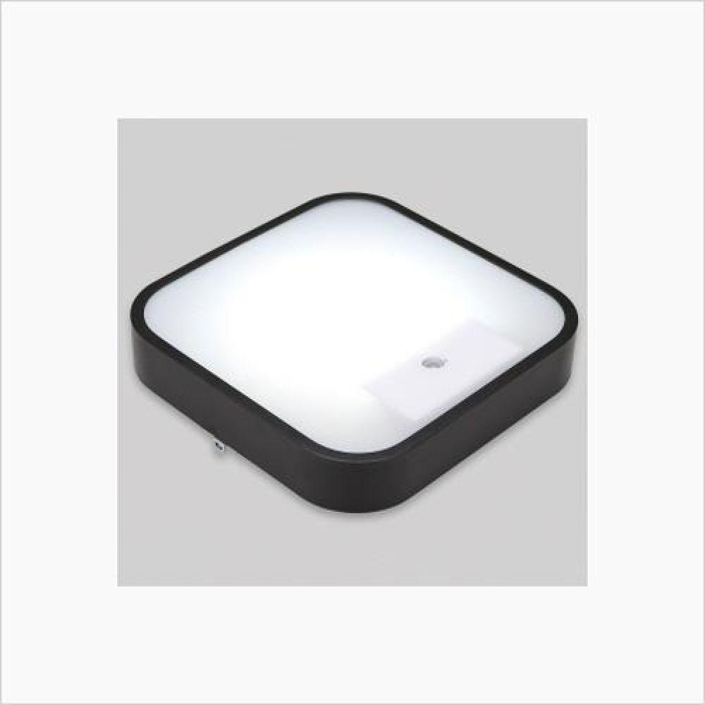 인테리어조명 사각 LED센서등 블랙 15W 주광색 철물용품 인테리어조명 LED벌브 LED전구 전구 조명 램프 LED램프 할로겐램프 LED등기구