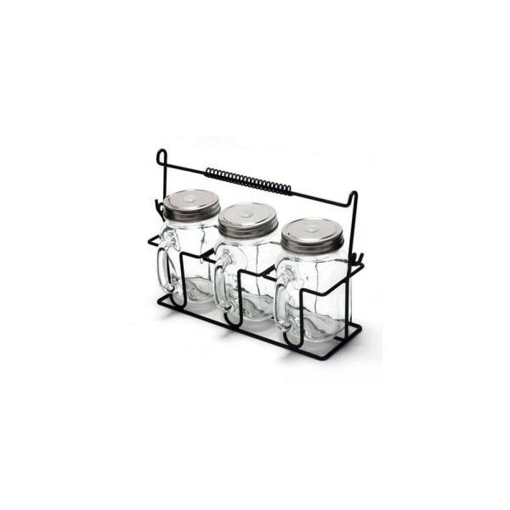 앤 와이어 유리병 텀블러 4P 세트 주방 생활 도매 유리자 밀폐