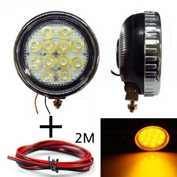 LED 안개등 원형 303 옐로우 다용도 램프 작업등 12V-24V겸용 선2m포함 led작업등 led라이트 낚시집어등 차량용써치라이트 해루질써치