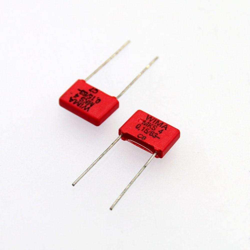 독일 위마 콘덴서 필름 캐패시터 63V 0.15uF MKS4  2개씩 5묶음 콘덴서 오디오 캐패시티 audio 위마 WIMA 독일