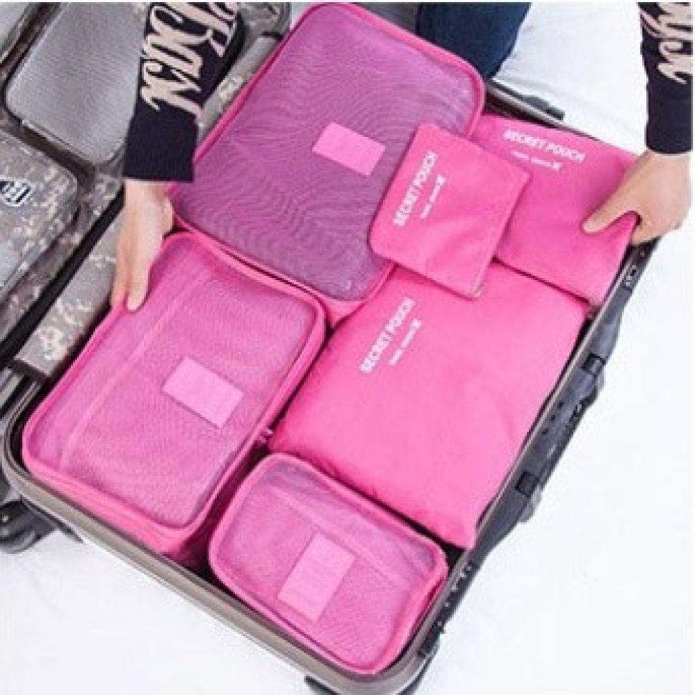 여행용 6종파우치 이너백 지퍼백 여행용 미니백 여행용품 케이스 파우치 지퍼백 패션소품