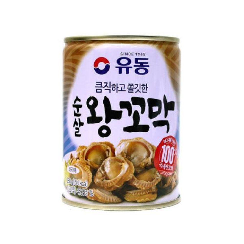 유동)순살 왕꼬막 280g x 6개 통조림 반찬 식재료 도매 박스단위