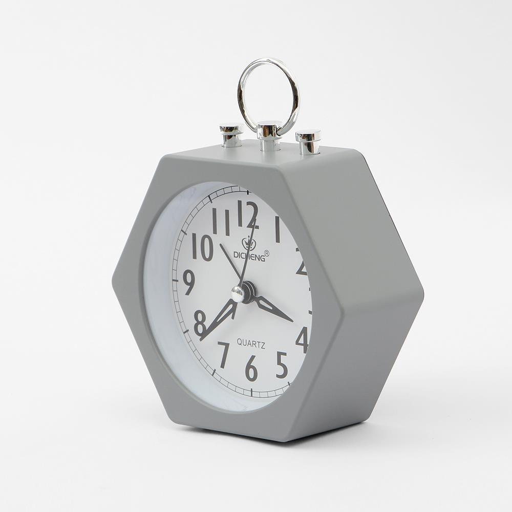 탁상시계 무소음 육각형 알람시계 인테리어탁상시계 자명종시계 인테리어시계 탁상시계 생활용품 테이블시계