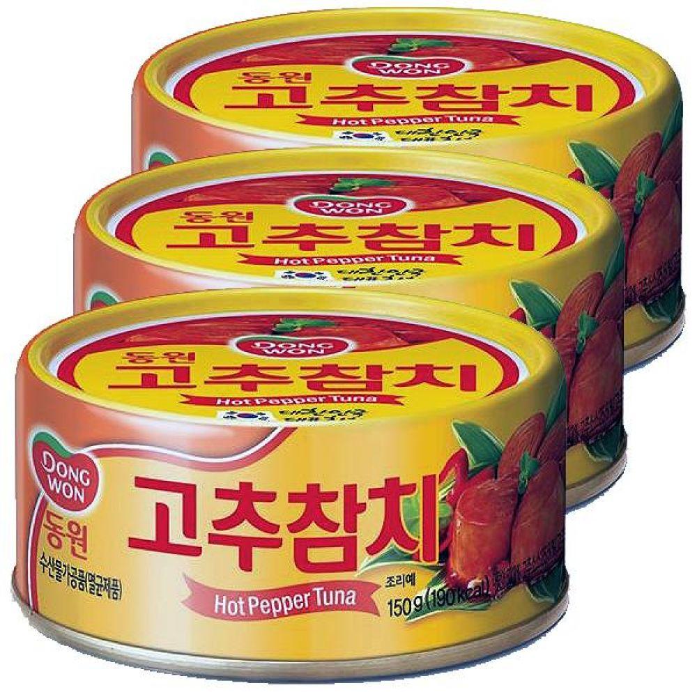 동원)고추참치 150g x 12개 고단백 영양식품 오메가3 반찬 깡통 통조림 간편 투나