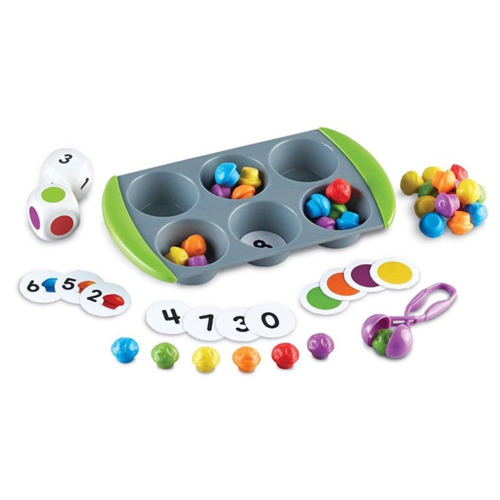 선물 어린이 아이 과학 학습 교구 미니머핀 매치업 유아원 장난감 학습교구 교구 놀이교구