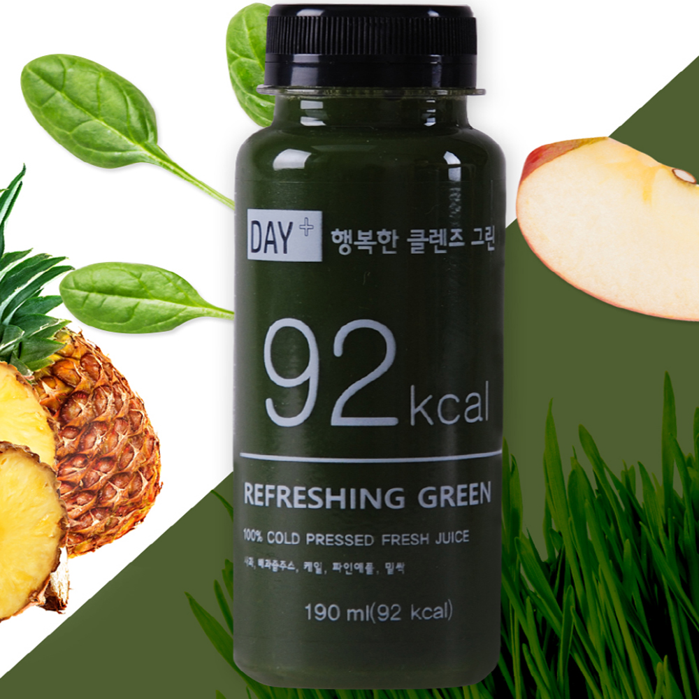클렌즈주스 케일주스 92kcal 밀싹 하루야채 사과착즙 밀싹주스 사과케일주스 클렌즈음료 클린주스 사과즙