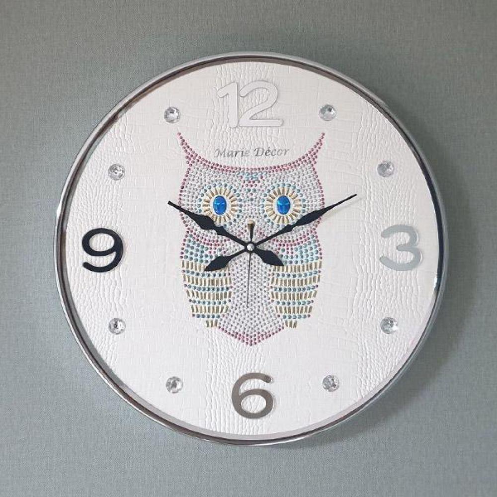 스위트부엉이 무소음 벽시계 (아이보리) 벽시계 벽걸이시계 인테리어벽시계 예쁜벽시계 인테리어소품