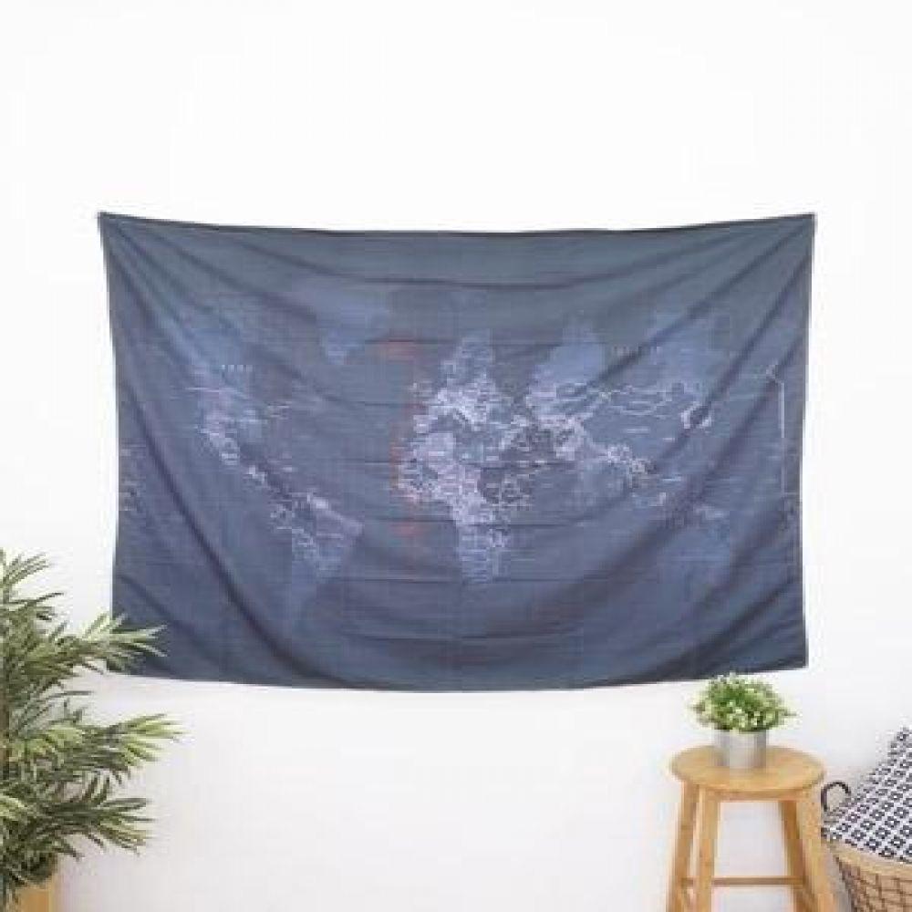 태피스트리 (블랙지도) 벽장식소품 천포스터 벽걸이소품 가리개 인테리어소품