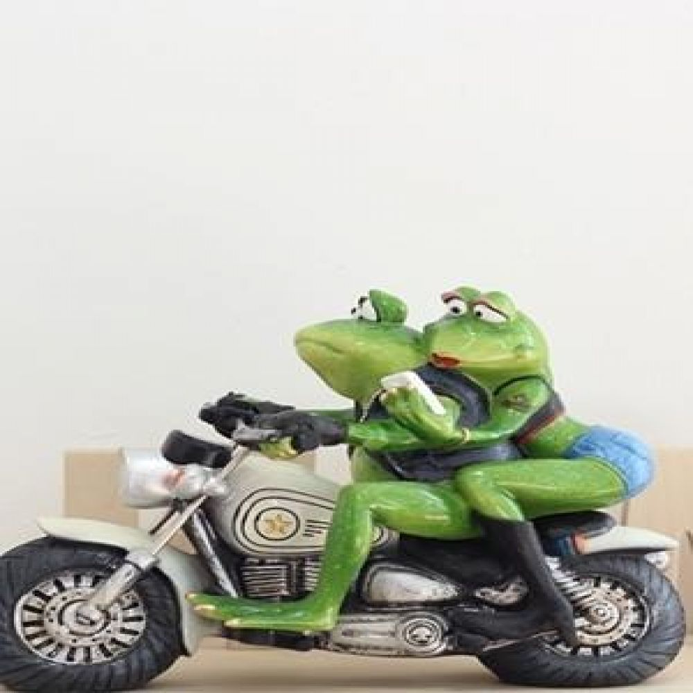 커플 개구리 데이트 오토바이 마블소품 개구리소품 개구리장식품 장식인형 장식소품