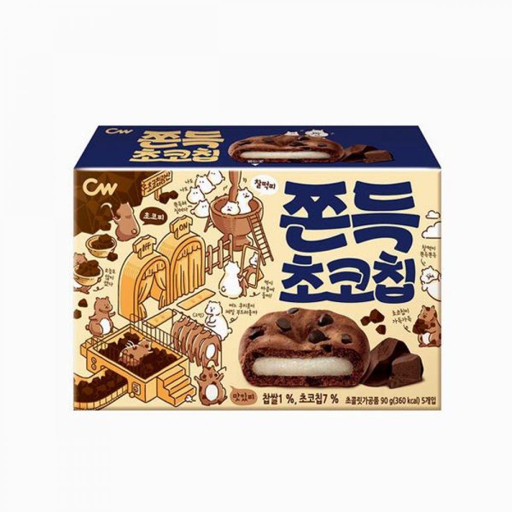 청우 쫀득초코칩 90g 18개 1박스 청우식품 간식 주전부리 스낵 과자 캔디 쫀득 초코칩