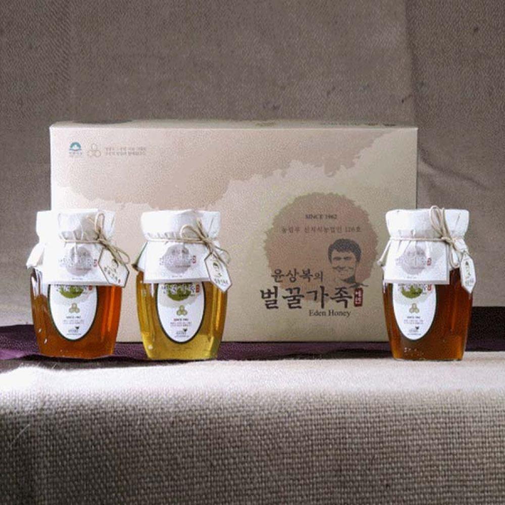 에덴양봉원_윤상복의 벌꿀가족 5호 1.8kg 꿀 벌꿀 벌꿀세트 꿀세트 천연벌꿀 명절선물 선물세트 명절선물세트 설선물