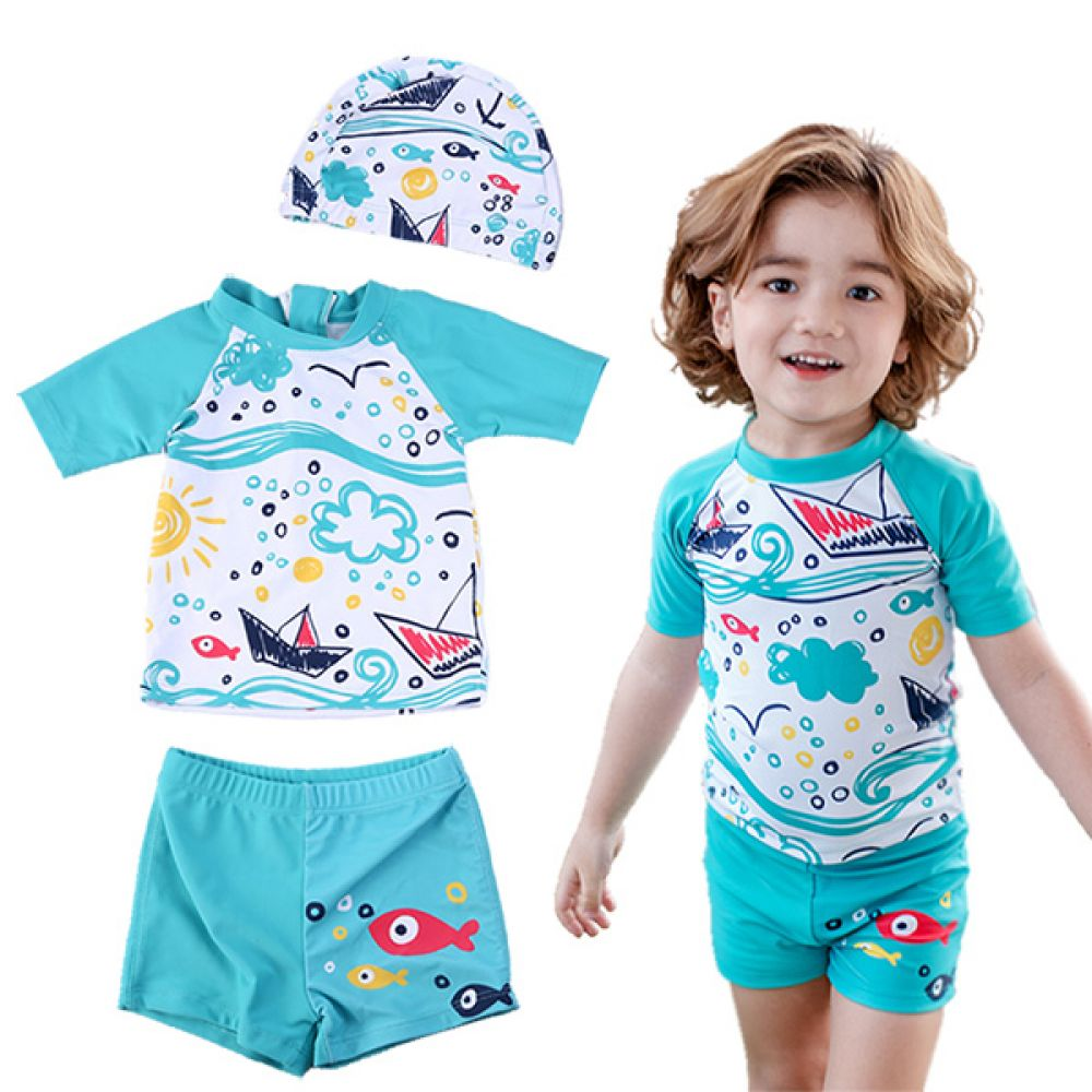 바다속 물고기 래쉬가드 3종세트(1-6세) 700034 아기수영복 유아수영복 아기래쉬가드 유아래쉬가드 수영복 래쉬가드 물놀이옷 여름바캉스