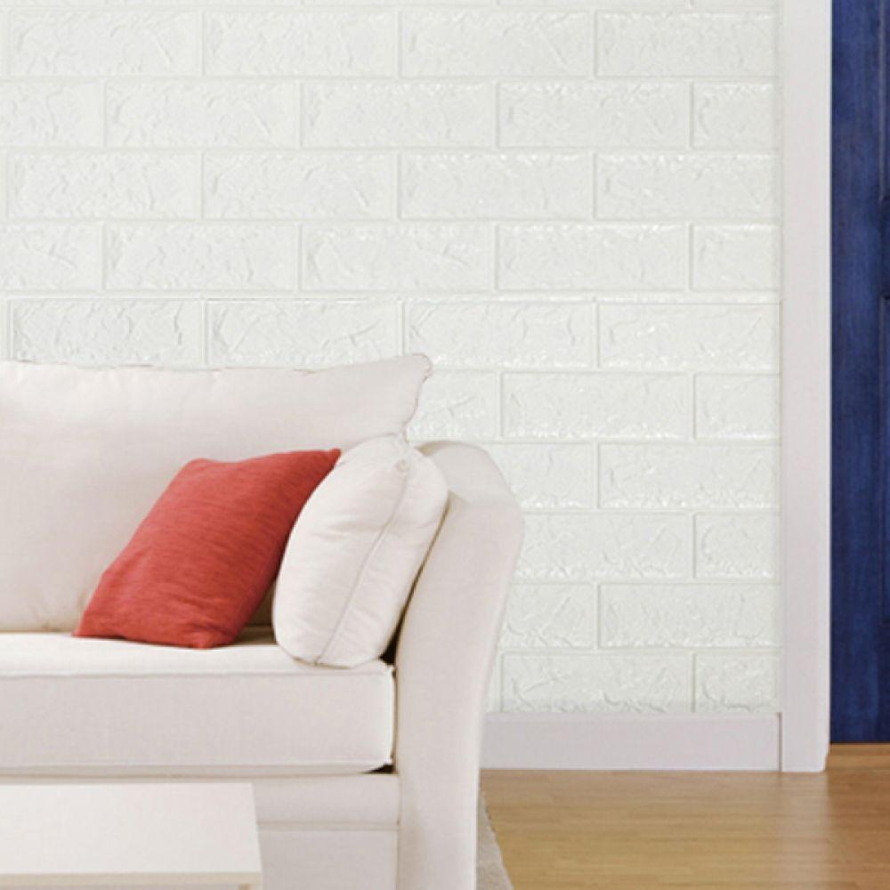 YP 폼블럭 디자인벽지 단열벽지 포인트벽지 70x230 화이트 폼블럭 인테리어소품 디자인벽지 시트지 벽지