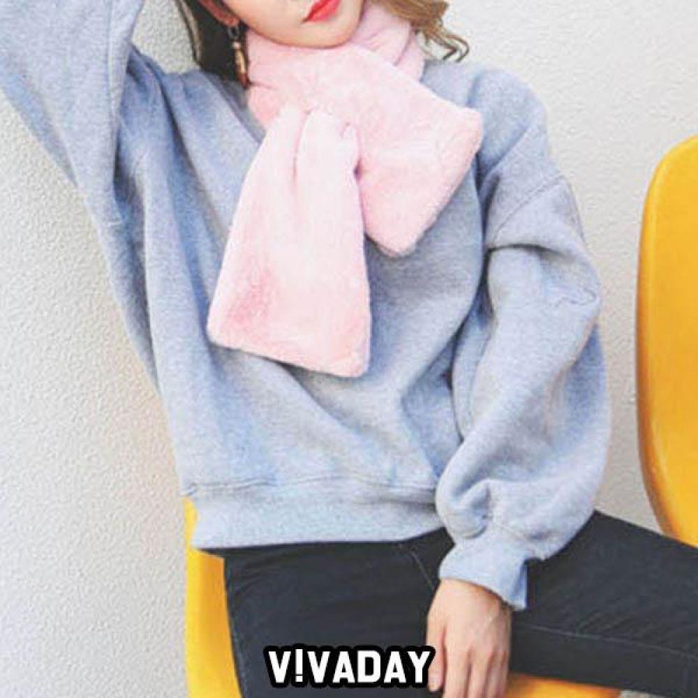 LEA-A173 소프트 퍼 머플러 양말 목도리 퍼목도리 요가링 스카프 잡화 패션잡화 운동