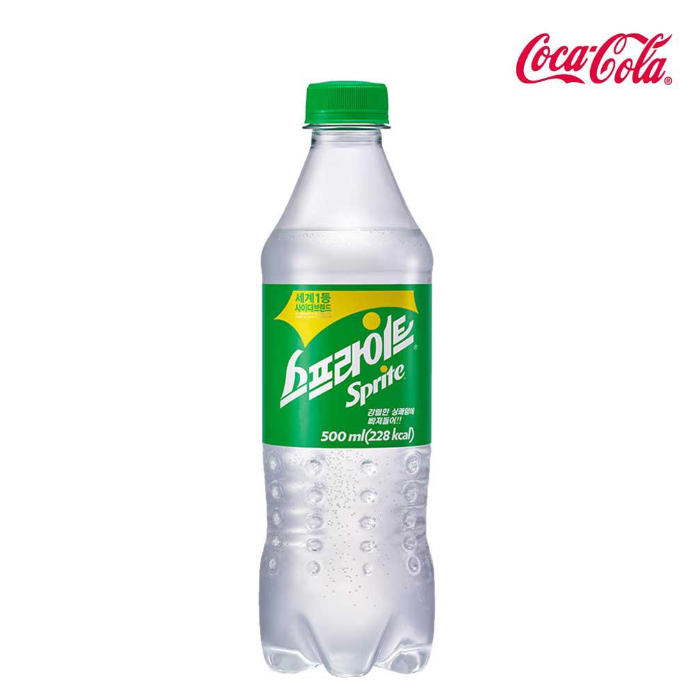 탄산음료 스프라이트 500ml X 24개 탄산음료 코카콜라 사이다 스프라이트 음료수