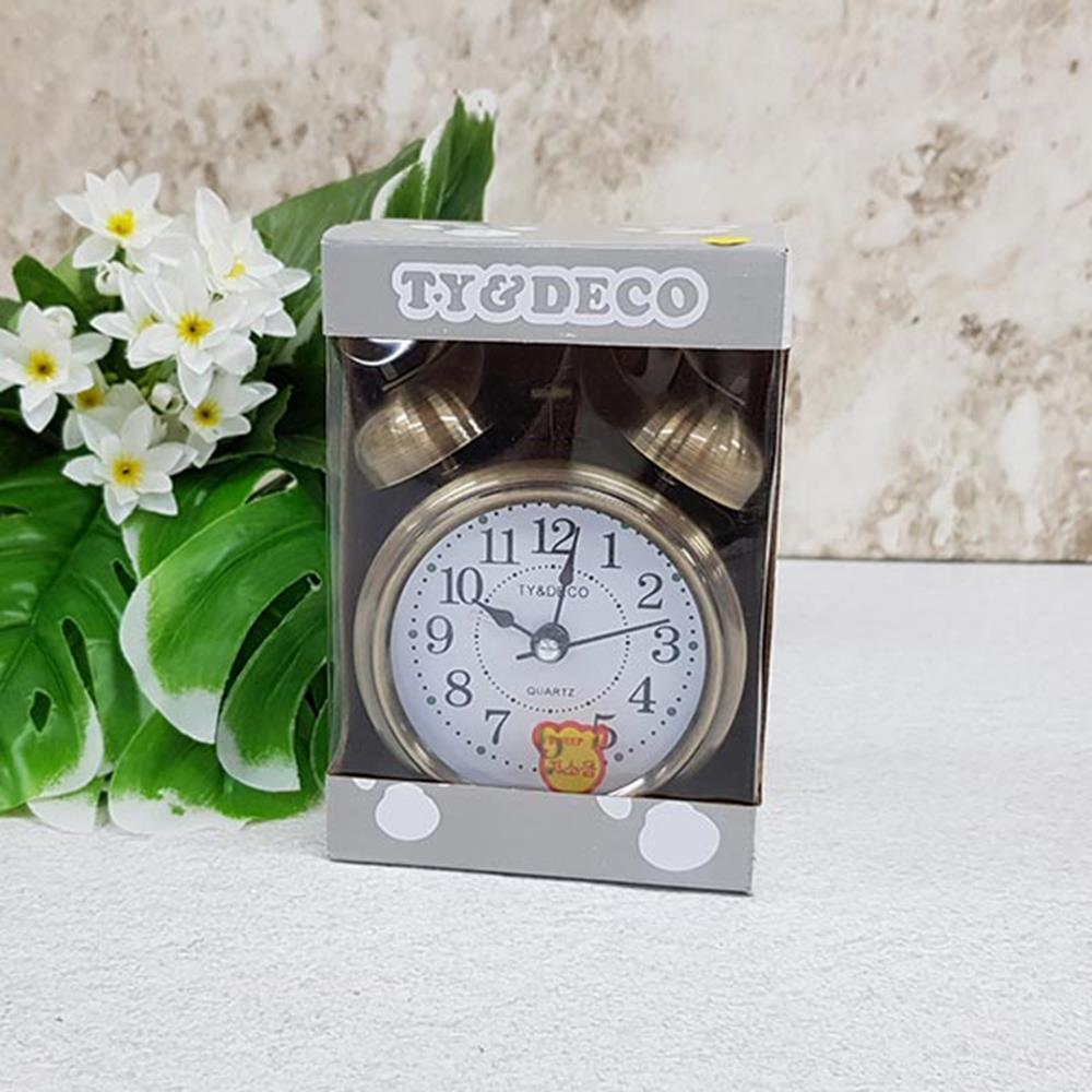 금속 저소음 탁상벨시계-소 알람용시계 자명종시계 시계 알람탁상시계 탁상용시계 인테리어탁상시계 인테리어시계