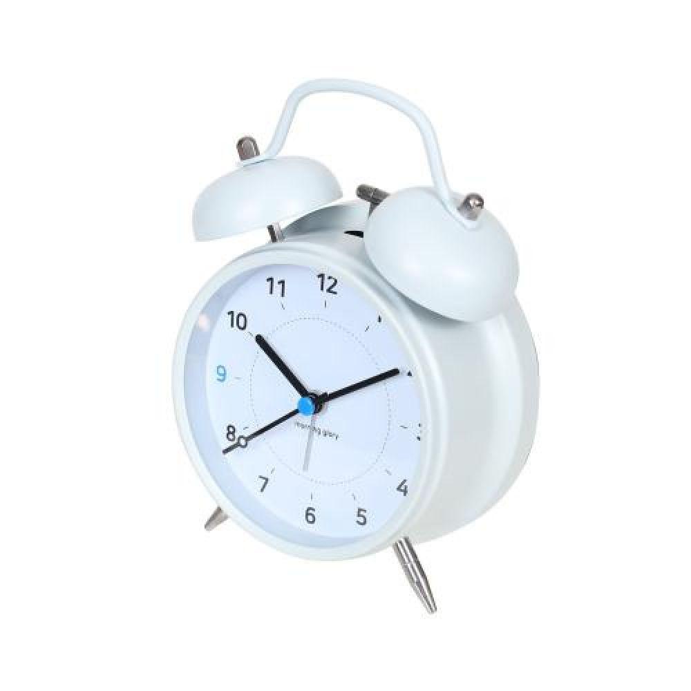 15000 모닝글로리 매트화이트 알람시계 알람시계 소형시계 디자인시계 인테리어시계 탁상시계