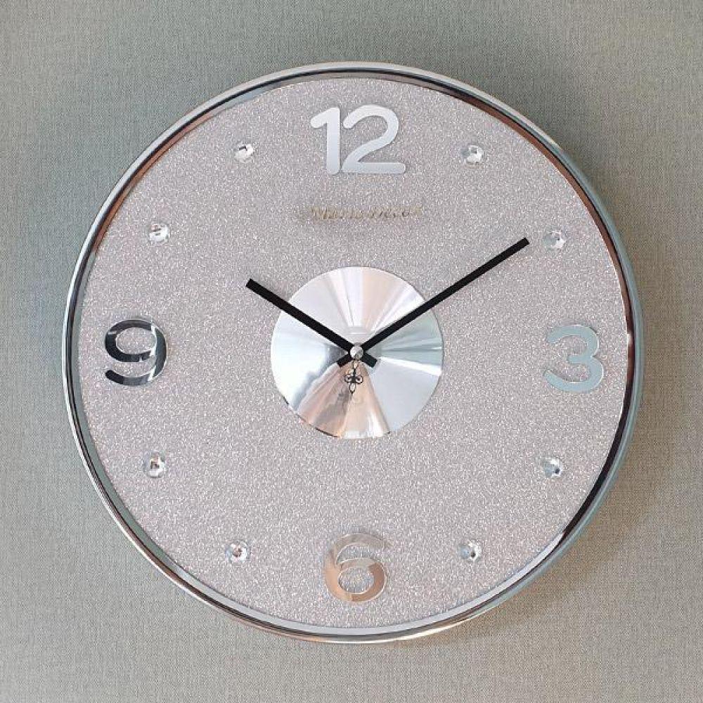 글리터 무소음 벽시계 (실버그레이) 벽시계 벽걸이시계 인테리어벽시계 예쁜벽시계 인테리어소품