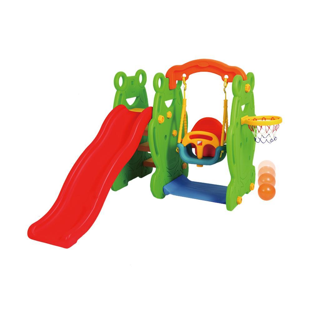 플레이세트 아이 유아 장난감 개구리 미끄럼틀 그네 유아원 장난감 3살장난감 4살장난감 5살장난감