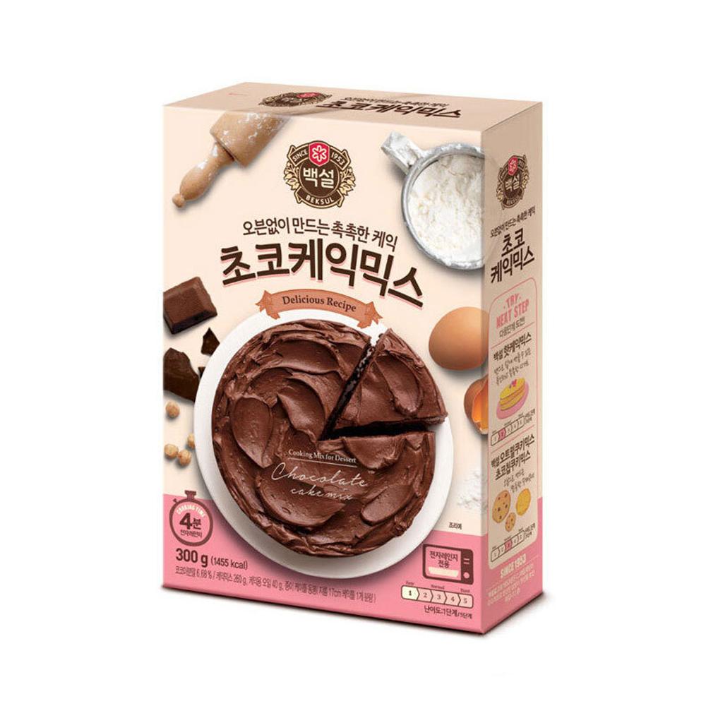 CJ백설 초코케익믹스 300g 케이크만들기 베이킹 제빵 베이킹 케익믹스 케이크 제빵 핫케익