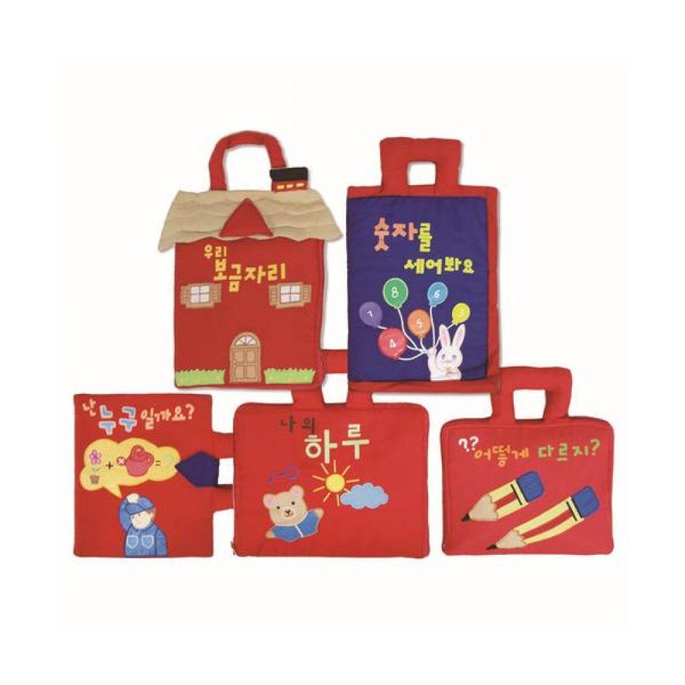 인기 헝겊책 5종 세트 완구 문구 장난감 어린이 캐릭터 학습 교구 교보재 인형 선물