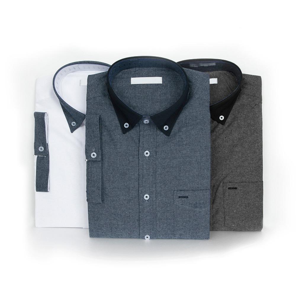 젠틀 투톤셔츠 반팔남방 반팔셔츠 슬림핏셔츠 빅사이즈셔츠 남자셔츠 남자반팔셔츠 캐주얼셔츠 남자여름셔츠 반팔와이셔츠 남자와이셔츠