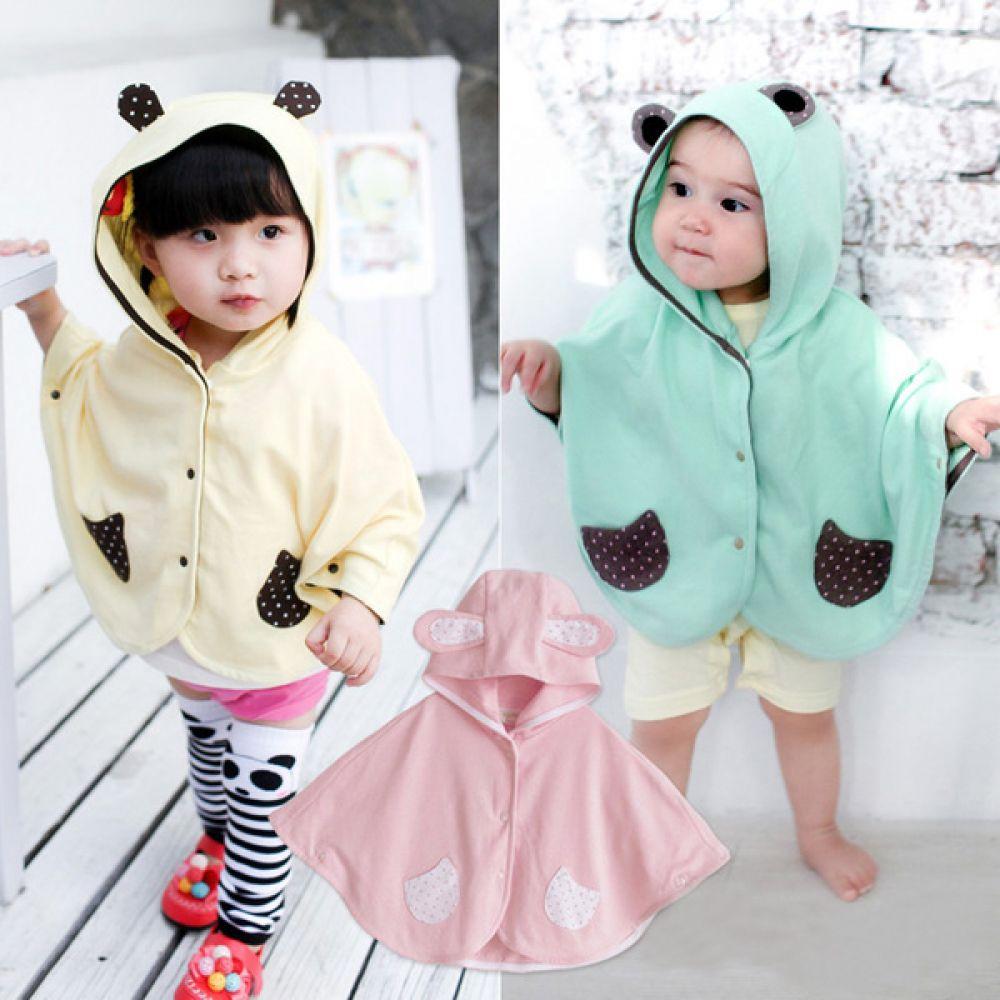 도트 주머니 유아 망토 (1-5세) 202819 아기옷 유아옷 아기망토 유아망토 망토 자켓 케이프 간절기옷 아우터 조이멀티