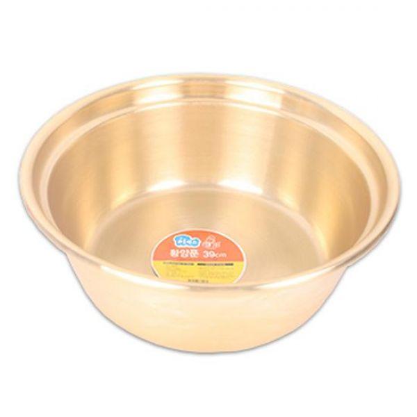 황양푼(39cm) 다라이 대야 양푼이 믹싱볼 금색