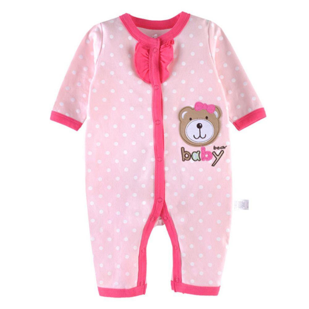 러플 포인트 베이비 베어 우주복(0-12개월) 203821 아기우주복 롬퍼 백일옷 아기옷 유아옷 신생아옷 발싸개 유아복 돌복 실내복 외출복