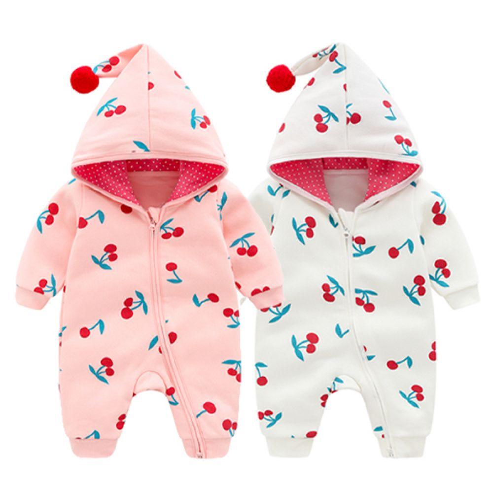 체리 콕콕 우주복(0-24개월) 203689 아기우주복 유아우주복 신생아우주복 우주복 아기실내복 유아실내복 후드우주복 아기외출복 유아외출복 조이멀티