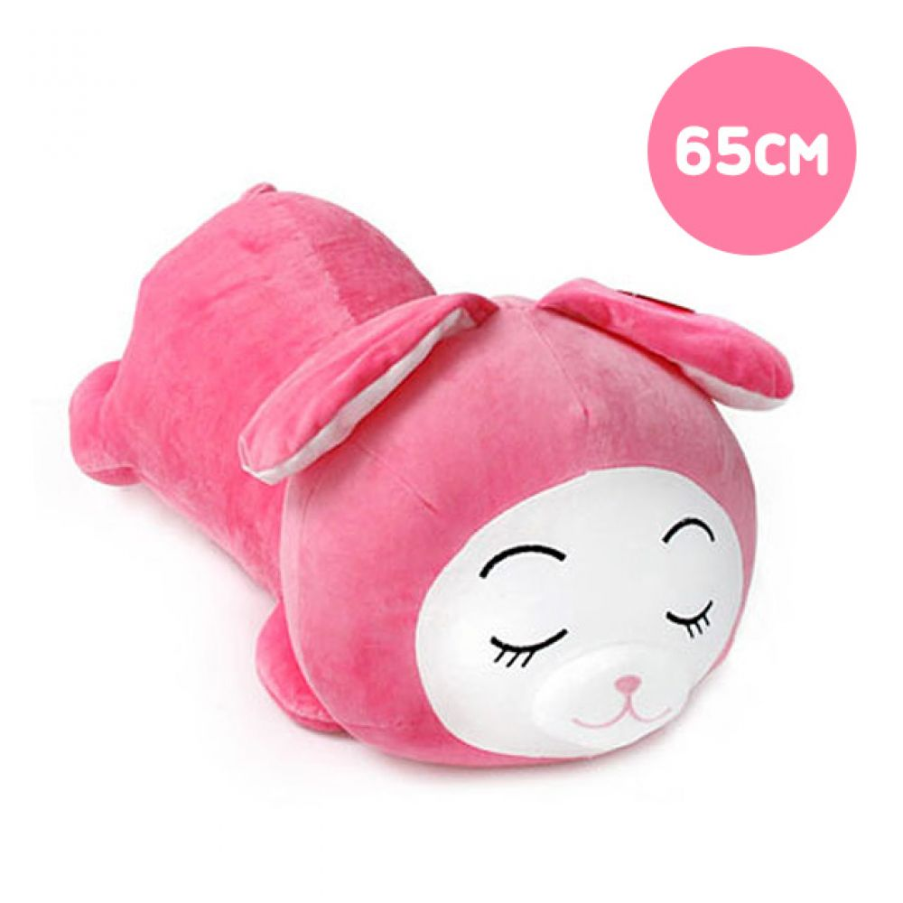 둥이둥이쿠션 핑크토끼-중형(65cm) 토끼인형 봉제인형 대형인형 캐릭터인형 토끼 동물인형 안고자는인형 인형선물 캐릭터인형 큰인형
