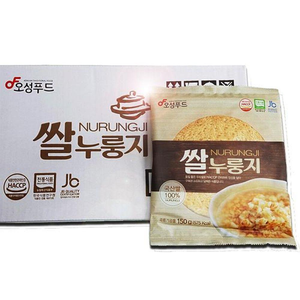 오성푸드 쌀누룽지(150gx20봉) 김제평야쌀 전통방식 그대로 고소하고 구수함 웰빙 간편식 간편 즉석 식사 대체 누룽지