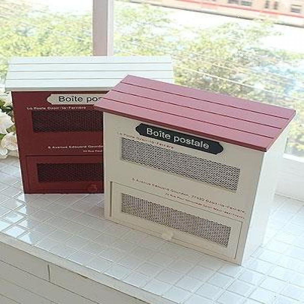 프렌치 포스트 박스 2종 벽걸이소품 우체통소품 인테리어소품 인테리어장식품 장식소품